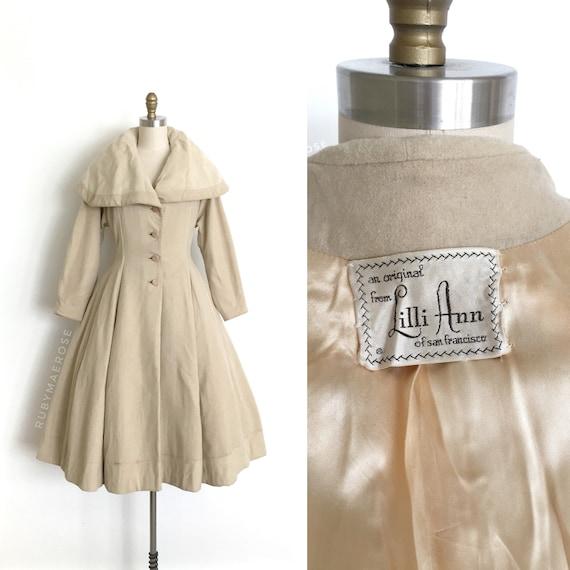 vintage 1950s designer coat | 50s Lilli Ann cashme