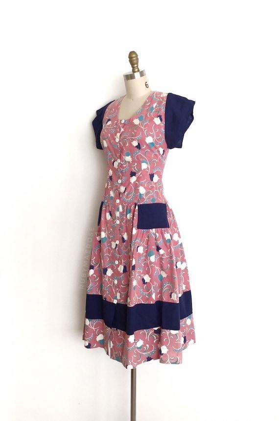 vintage 1930s 1940s dress | 30s 40s floral print … - image 5