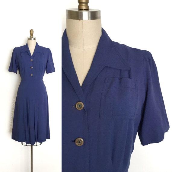vintage 1930s dress | 30s cotton rayon sportswear
