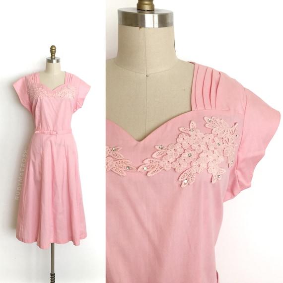 vintage 1940s 1950s dress | 40s 50s deadstock lace