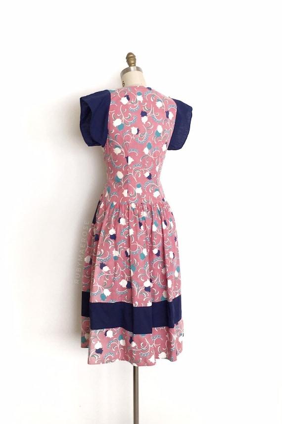 vintage 1930s 1940s dress | 30s 40s floral print … - image 6