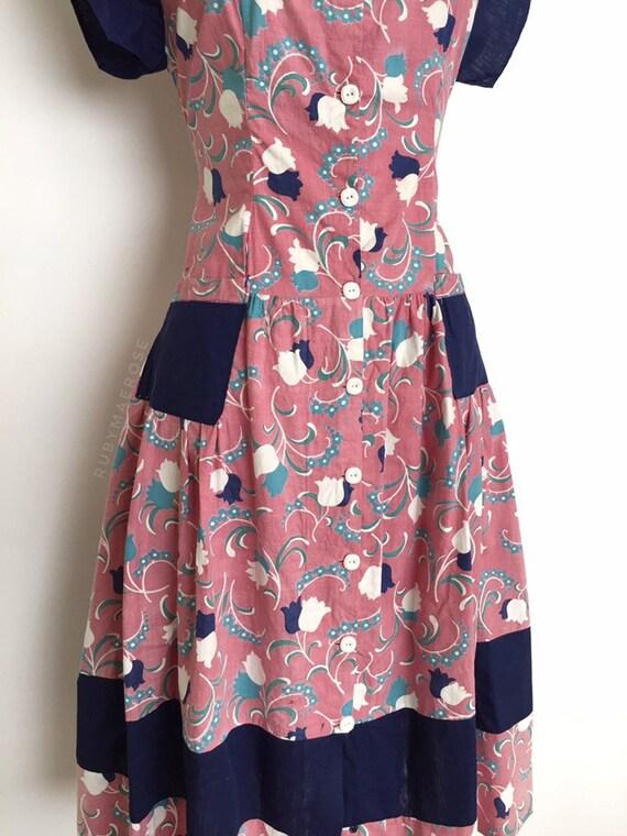 vintage 1930s 1940s dress | 30s 40s floral print … - image 3