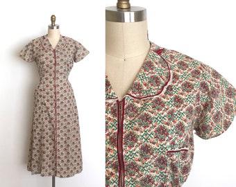vintage 1930s dress | 30s floral print house dress