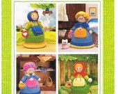 TOPSY TURNABOUT DOLL, Knitting Pattern.
