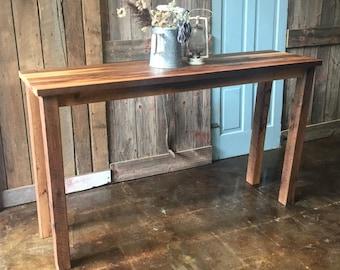 Etonnant Farmhouse Reclaimed Wood Console Table