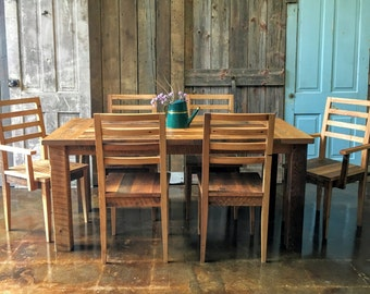 Farmhouse Dining Table And Chairs Set Room