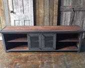Industrial Media Console / Reclaimed Wood Media Center / Modern Credenza