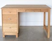 Danish Modern Desk Solid White Oak Office Desk