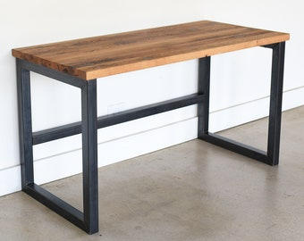 Reclaimed Wood Desk / Industrial Barn Wood Desk / Modern Reclaimed Wood Desk