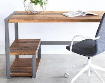 Rustic Reclaimed Wood Desk / Industrial Office Desk / Custom Desk