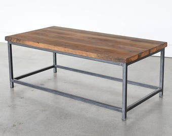 Stoic Coffee Table / Reclaimed Wood Industrial Coffee Table