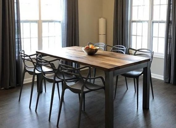 Modern Kitchen Table / Reclaimed Wood Dining table with 3\