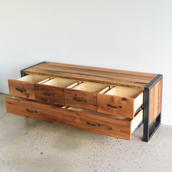 Surprising 60 Storage Bench Entryway Reclaimed Wood 5 Drawer Bench Ncnpc Chair Design For Home Ncnpcorg