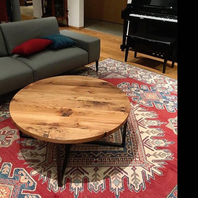 Reclaimed Wood Metal Coffee Table.Round Coffee Table Reclaimed Wood Metal Base Coffee Table Industrial Modern Coffee Table
