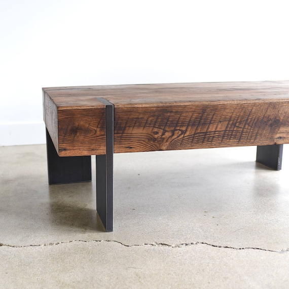 Chunky Block Coffee Table Handmade From Reclaimed Wood Solid Etsy