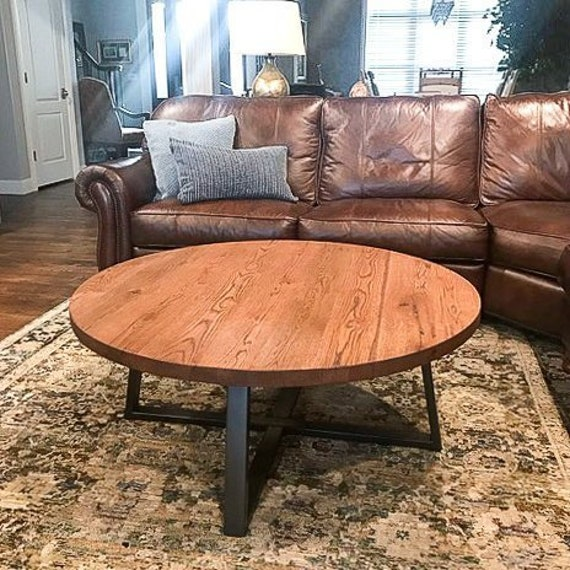 Amazing Round Coffee Table Rustic Reclaimed Wood And Industrial Steel Pedestal Table Lamtechconsult Wood Chair Design Ideas Lamtechconsultcom