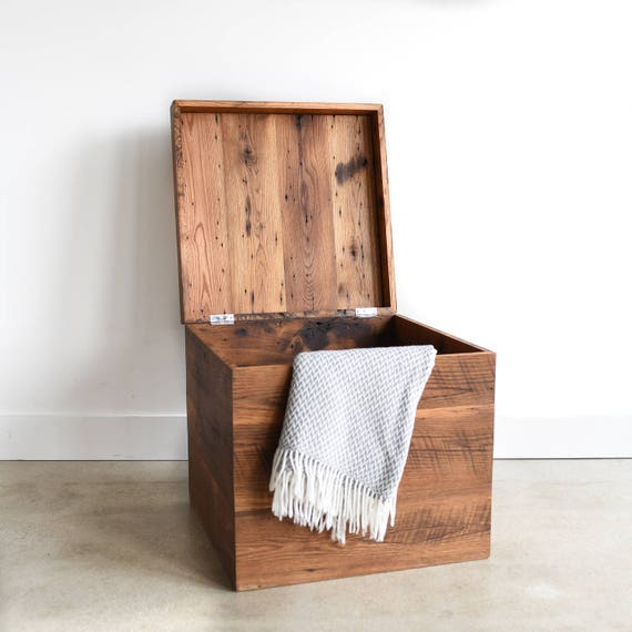 Make A Reclaimed Wood Coffee Table: Coffee Table Storage Box Made With Reclaimed Wood / Lift
