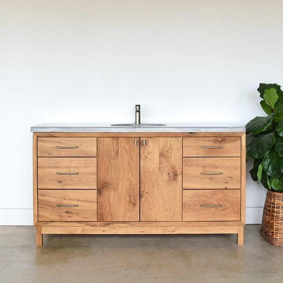 60 Custom Bathroom Vanity Made From Reclaimed Wood Etsy