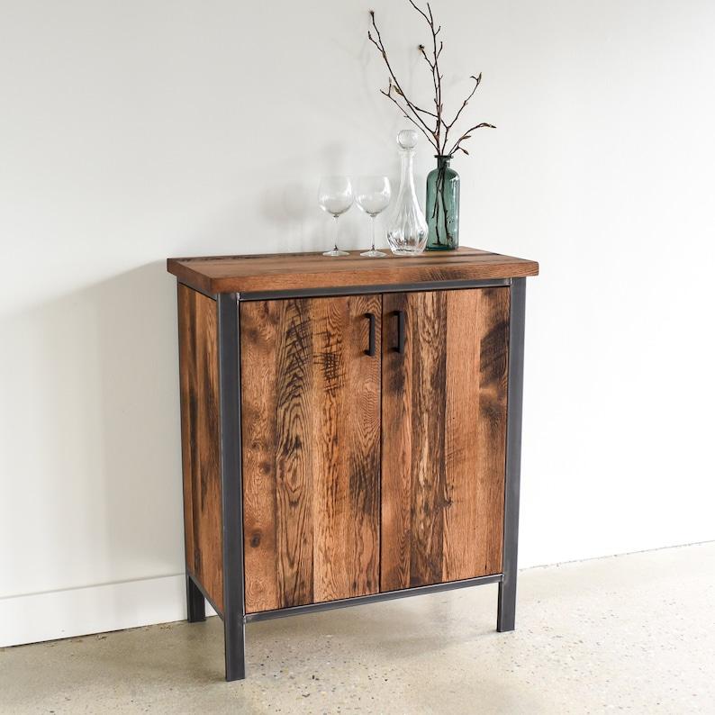 industrial buffet cabinet 2 door reclaimed wood storage etsy rh etsy com
