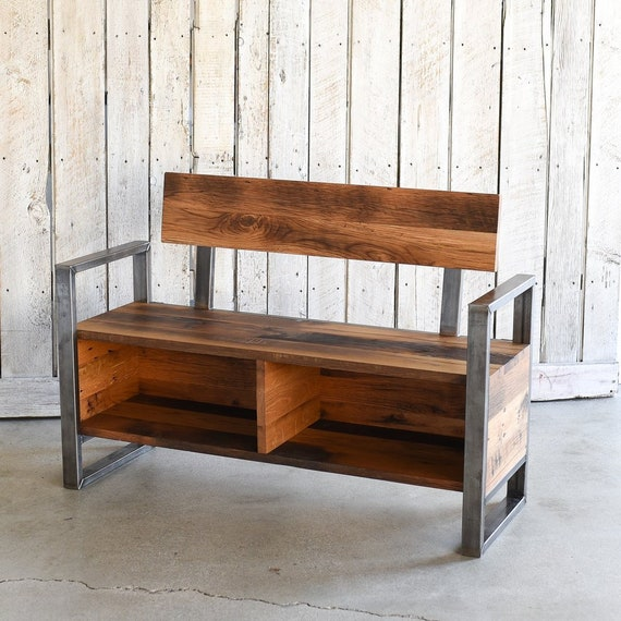 Miraculous Entryway Bench Reclaimed Wood Storage Bench Ncnpc Chair Design For Home Ncnpcorg