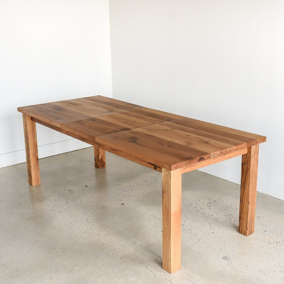 Extendable Dining Table / Reclaimed Wood Farmhouse Kitchen Table