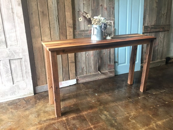 best sneakers 99928 12446 Farmhouse Reclaimed Wood Console Table