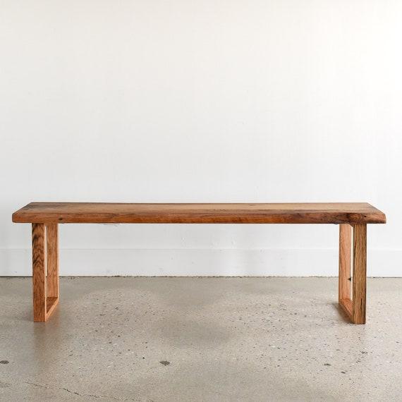 Incredible Live Edge Bench Made From Reclaimed Barn Wood U Shaped Wood Legs Creativecarmelina Interior Chair Design Creativecarmelinacom