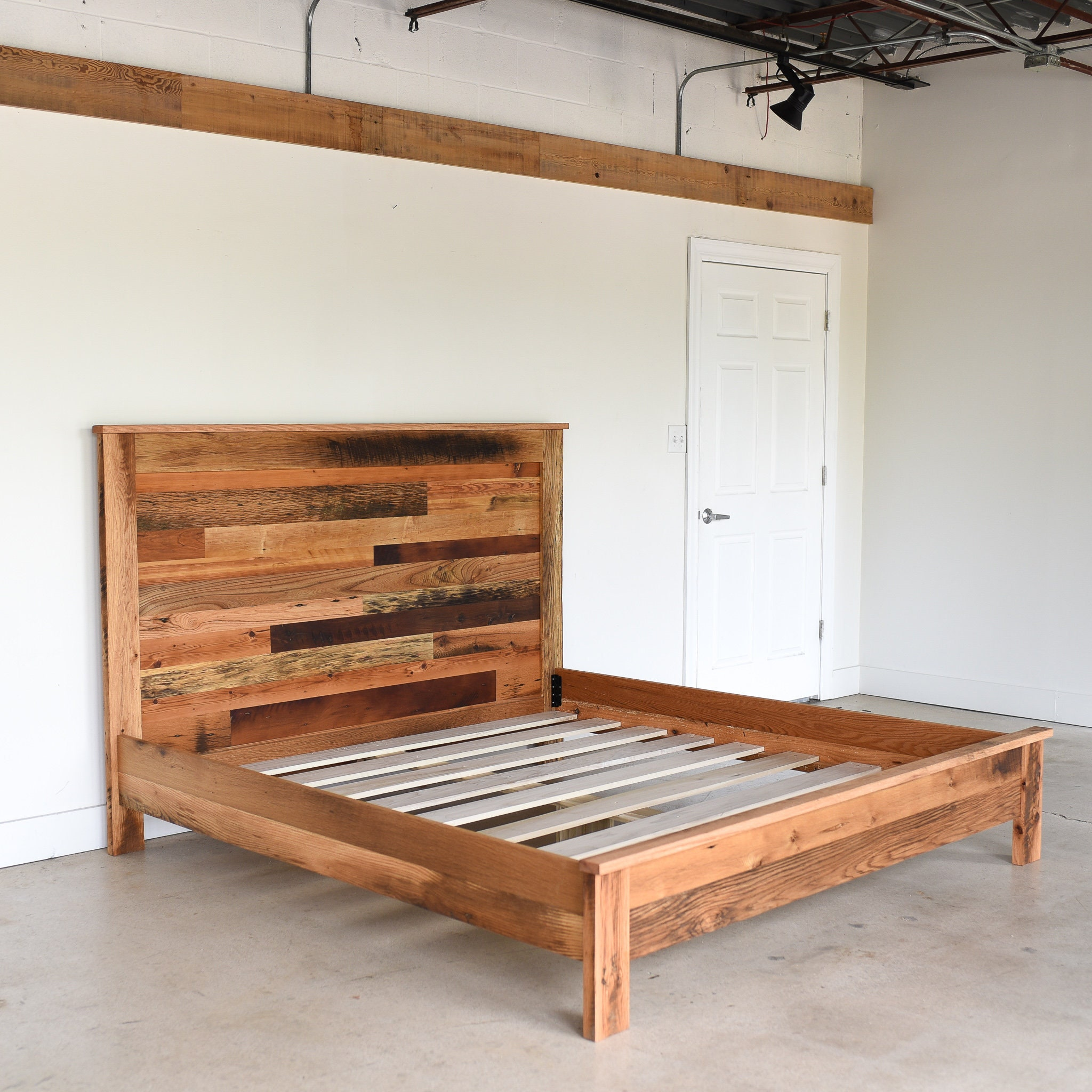 Rustic Reclaimed Wood Bed