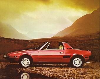 Fiat X1/9 Car Print 1983, Advertising Wall Art