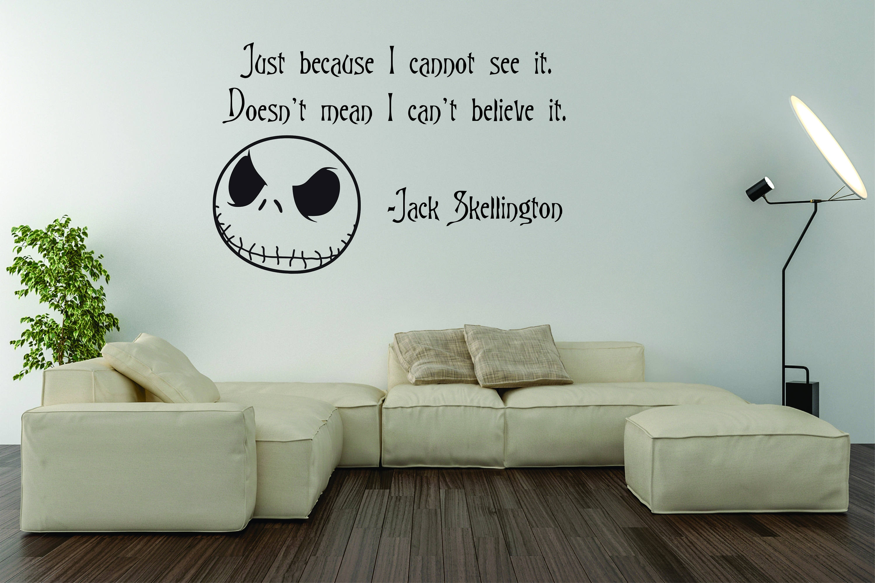 Vinyl Wall Word Decal The Nightmare Before Christmas Just | Etsy