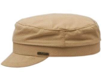 b9389d0c35d FIDDLER (59cm) - Jewish Cap made of 100% emerizing cotton (peach skin  effect) - beige