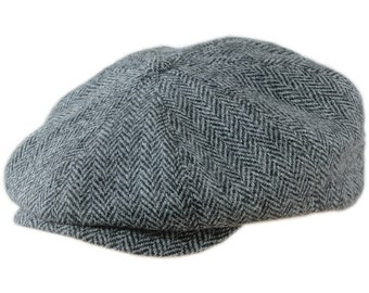 42121a370e3 PEAKY BLINDERS - Genuine Scottish Harris Tweed Pure Wool 8 Panels Newsboy  Apple Bandit Hooligan Ivy Blinder Hat Shelby Gangster Flat Cap