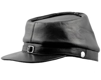 4c9e8768f1e BUFFALO - American Civil War Replica Genuine Leather Kepi Secession  Confederate Union Army Military Officers Collectible Foreign Legion Hat