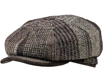 MALONE - Genuine Scottish Harris Tweed Pure Wool Gatsby Baker Boy Newsboy  Poor Boy Applejack Paper Boy Ivy League 8 panels Gangster Irish edc03c72b487