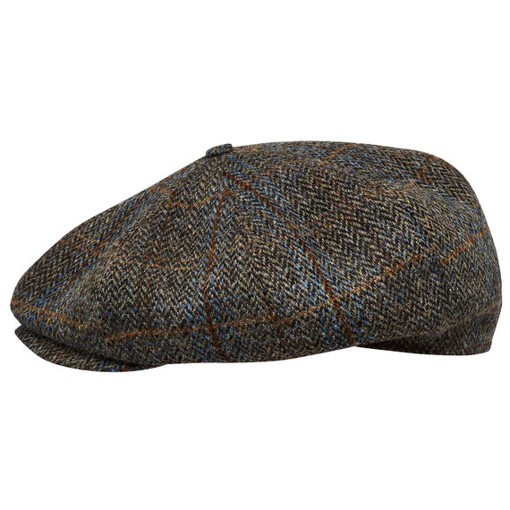 Tweet Peaky Blinders Green Newsboy Flat Cap Herringbone wool Hat iHATSLondon UK
