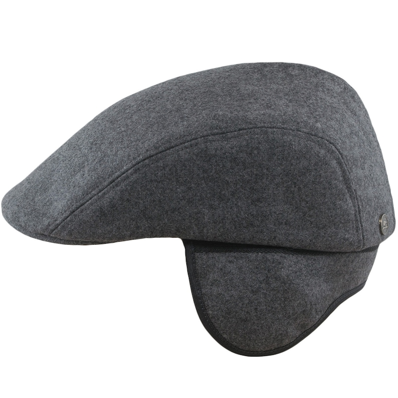 9466698295cfd NORTE Earflap Flat Cap Wool Jeff Paddy Irish Driving English