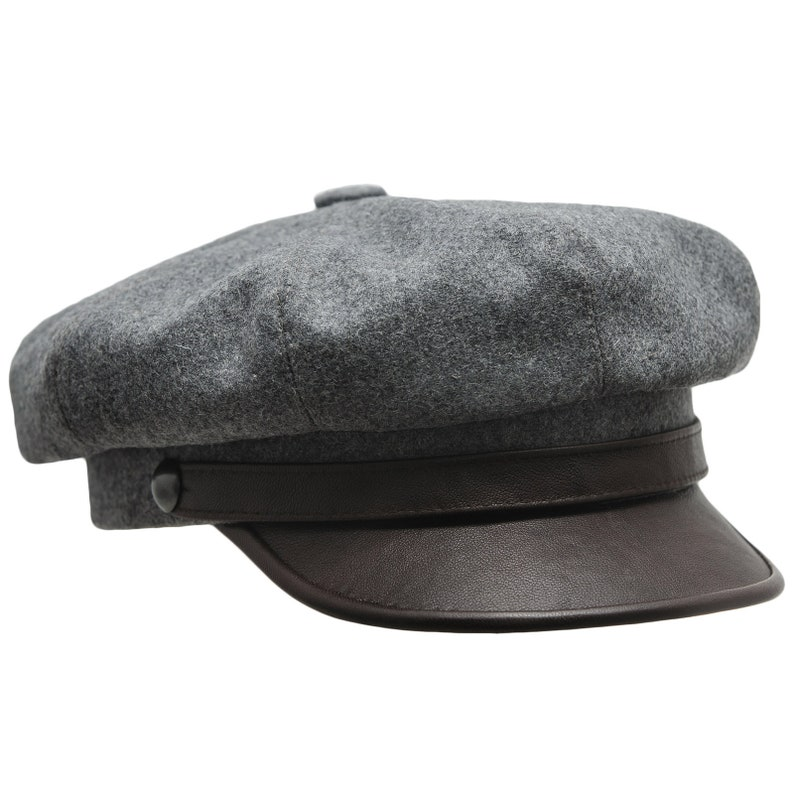 c0126c7b5 Leather Biker Cap