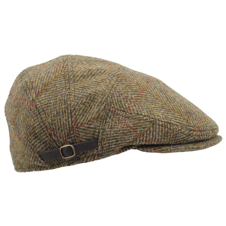 a6250ef9007 ABERDEEN Genuine Scottish Harris Tweed Pure Wool Flat Cap