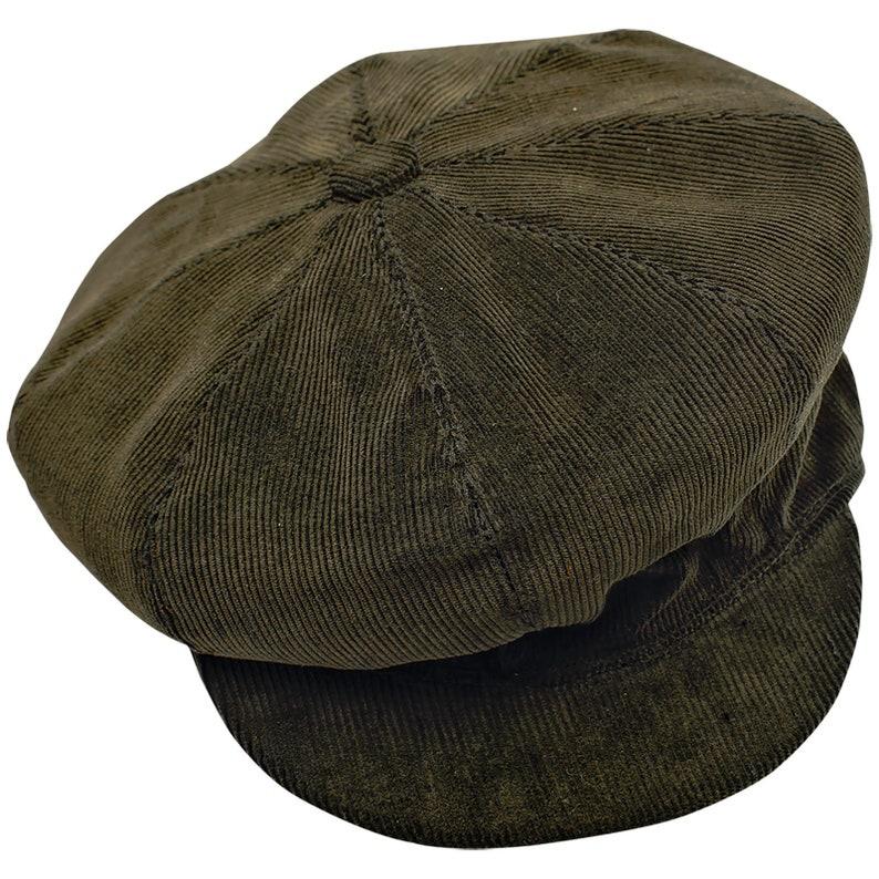 Men's Vintage Style Hats, Retro Hats VIGO Corduroy Cotton Newsboy 8 Panels Cap Spring Newsboy Paperboy Vintage Retro Resistance Liberte Stage Rock Applejack Hooligan Hat GREEN $48.00 AT vintagedancer.com
