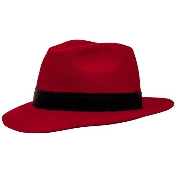 5e044c46a29 BOSSANOVA Fedora Wide Brim Classic Hat made of wool cloth