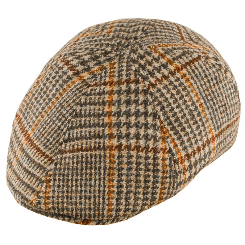 1ee8ef5797 RUSTY Harris Tweed Duckbill Mens Flat Cap Ivy League Wool Cabby Driving  Bicycle Gatsby Dai Duffer Joao's Bunnet Crook Cheese-Cutter Jeff Hat