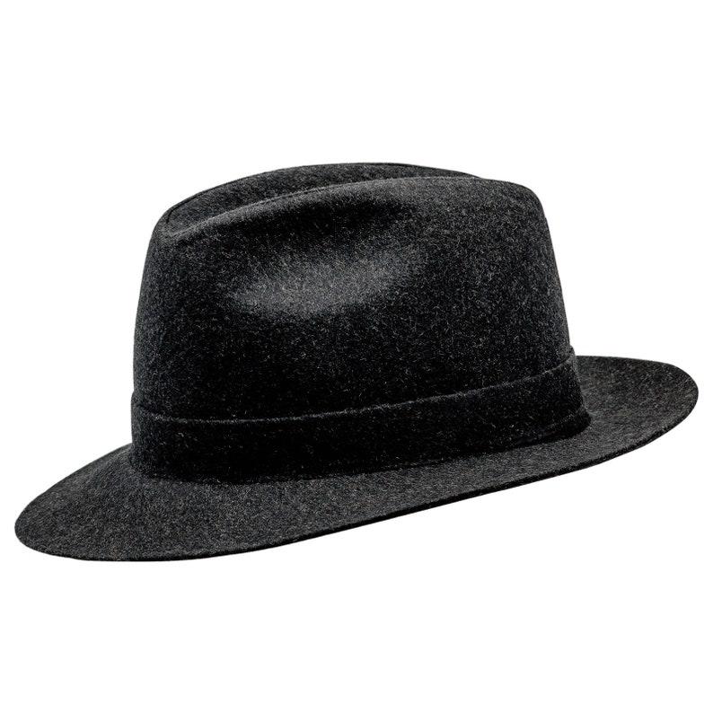 225f4e9ad8feb8 CORLEONE Fedora Wide Brim Classic Wool Cloth Hat Jazz | Etsy