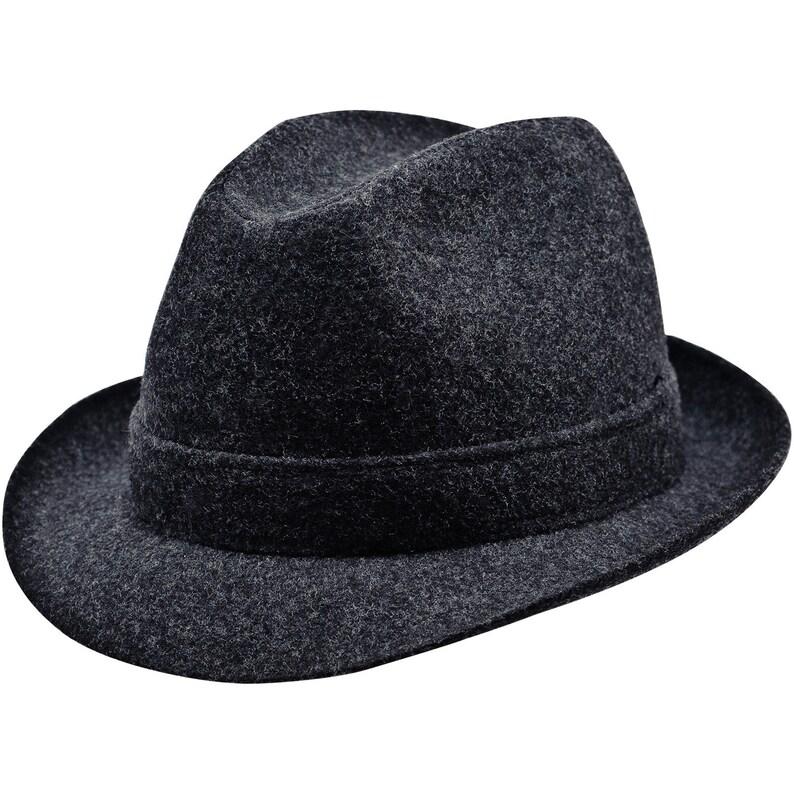 143d4ff85e4 ELWOOD Sewn Short Brim Trilby Hat Wool Cloth Retro Belushi