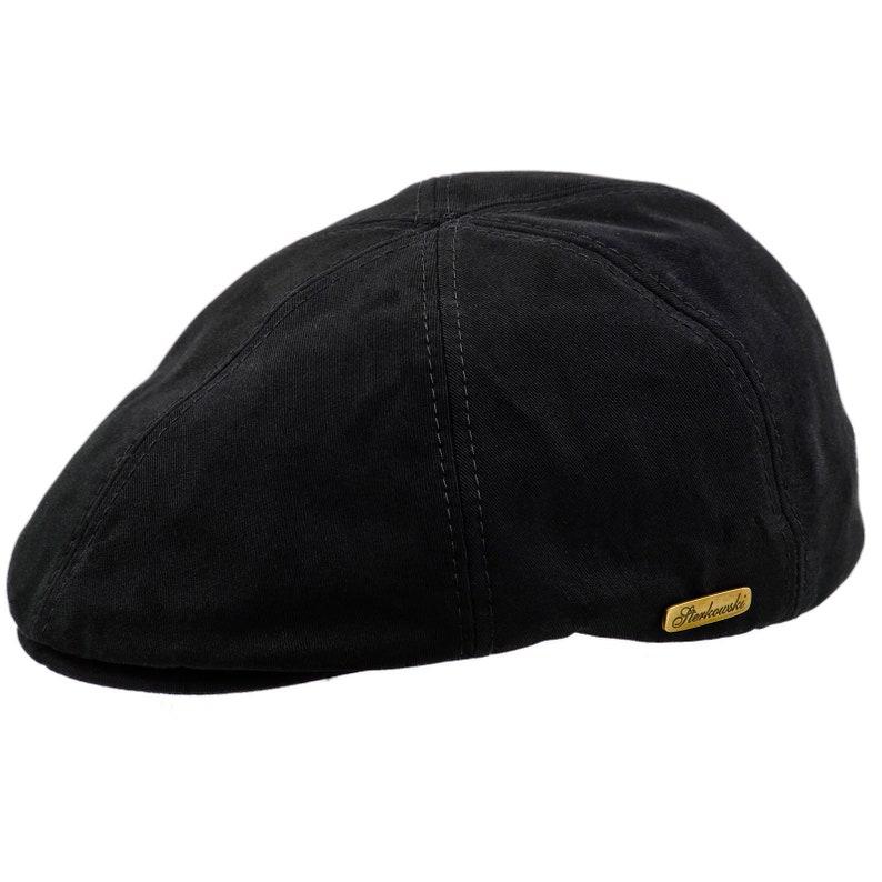 RUSTY gorra plana con pico de pato de algodón negra  f2828753808