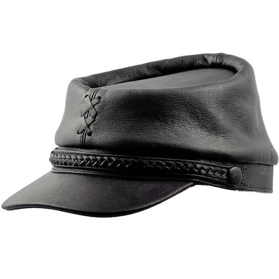 PATRIOT gorra quepis de guerra civil estadounidense de cuero