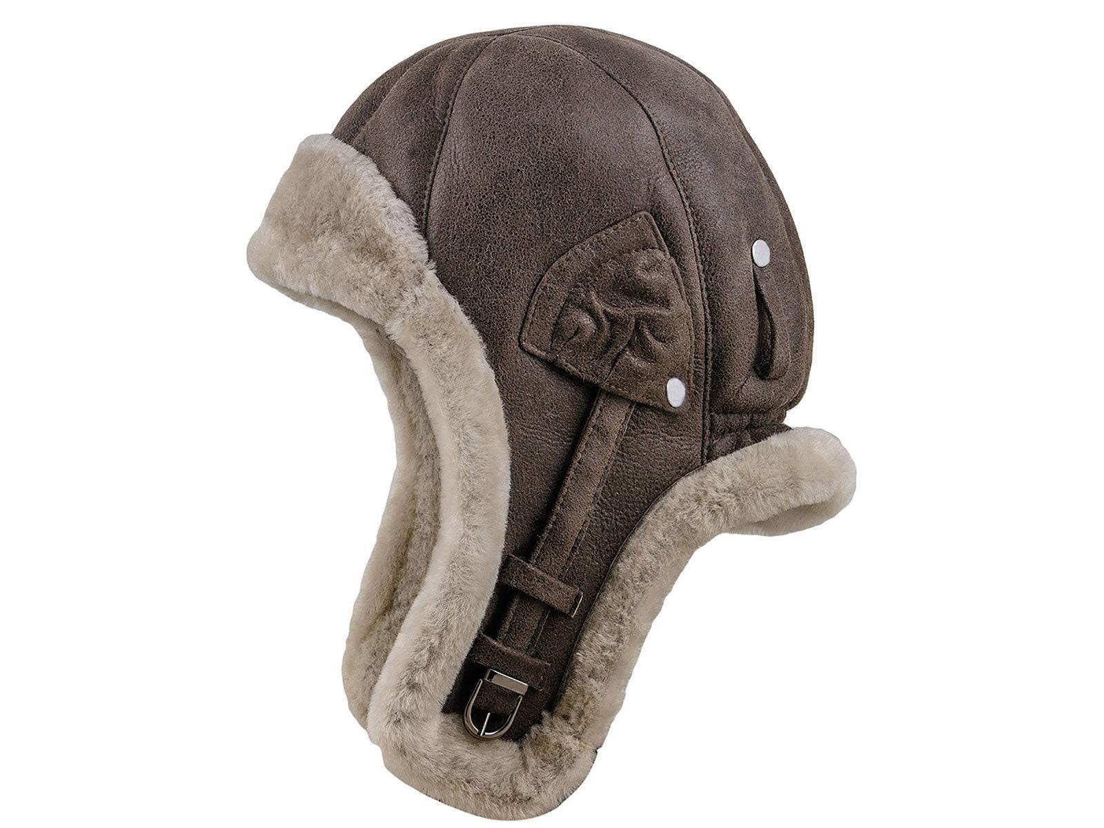 Sterkowski Baloo Shearling Leather Aviator Cap