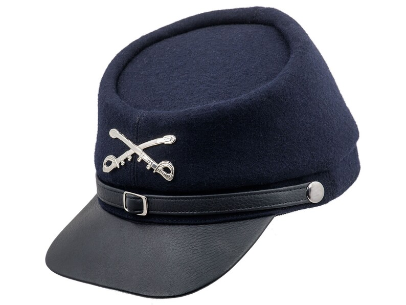 be0839028c2 BLUE AND GRAY American Civil War Replica Wool Cloth Cap