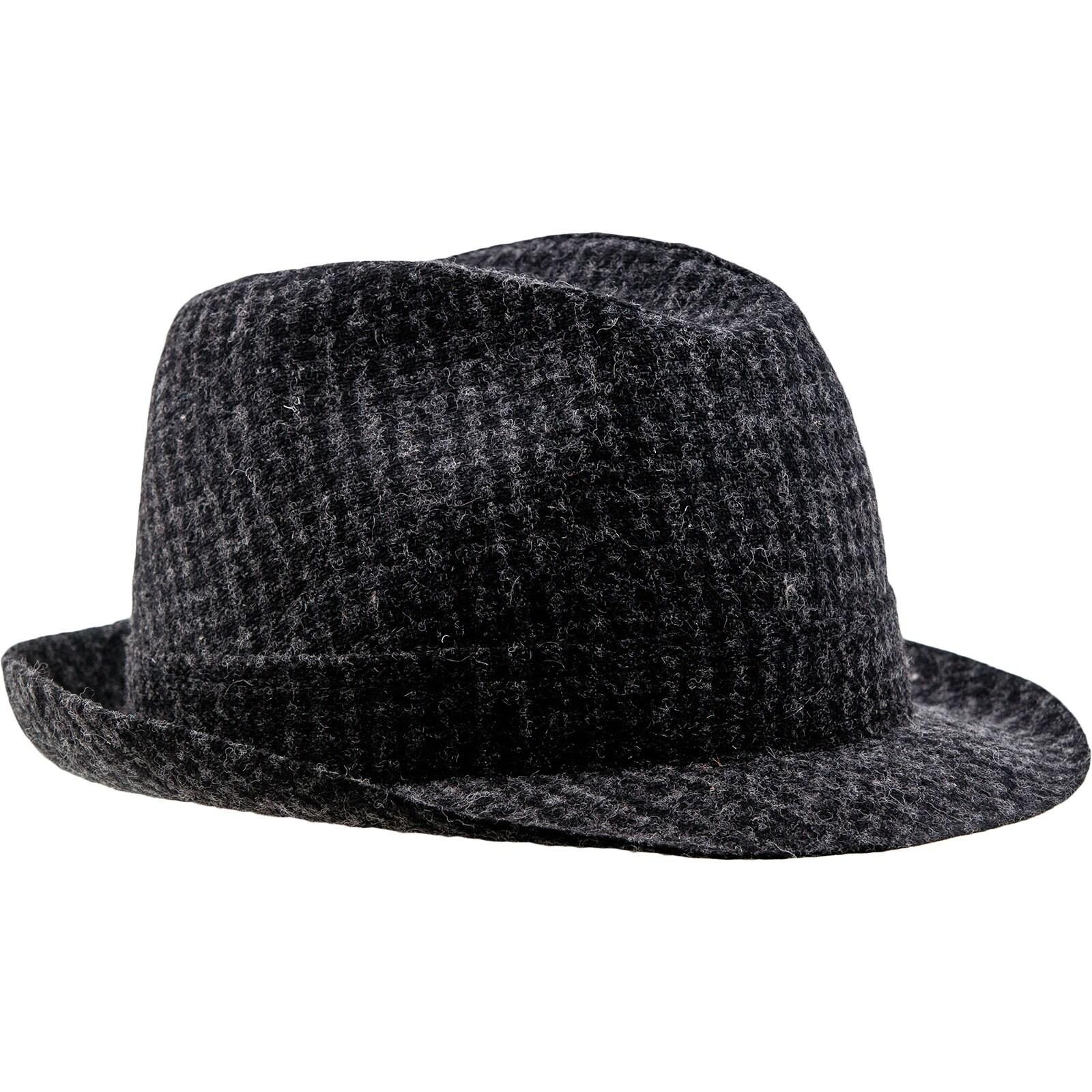 01de673c00f ELWOOD Sewn Short Brim Trilby Hat made of Wool Cloth black