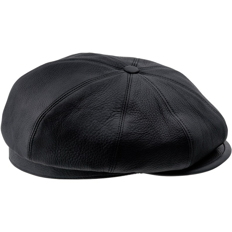55c9a1a266a BRIAN 8 Panels Gatsby Brian Natural Leather Flat Cap Irish