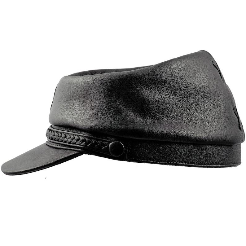 PATRIOT gorra quepis de guerra civil estadounidense de cuero  1a2eaf9c24a